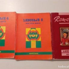 Libros de segunda mano: LENGUAJE 4 Y 5 SANTILLANA EGB Y ROMANCE LENGUA 6 EGB SANTILLANA. Lote 179129061