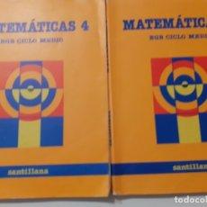 Libros de segunda mano: MATEMÁTICAS SANTILLANA 4 Y 5 EGB. Lote 179129177