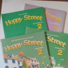 Libros de segunda mano: HAPPY STREET. OXFORD. LOTE 4 LIBROS APRENDER INGLÉS. NUEVOS. Lote 179138027
