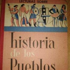 Libros de segunda mano: LECTURAS SOBRE HISTORIA DE LOS PUEBLOS. J. COLLS CARRERAS. GRADO DE PERFECCIONAMIENTO. EDITORIAL VIC. Lote 180131911
