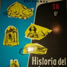 Libros de segunda mano: HISTORIA DEL ARTE Y DE LA CULTURA. EDICIONES SM 6°. AÑO 1961. CARTONÉ. PÁGINAS 220. PESO 450 GR. INC. Lote 180132718