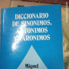 Libros de segunda mano: DICCIONARIO DE SINONIMOS ANTONIMOS Y PARONIMOS -MIGUEL DOEZIS . Lote 180138601
