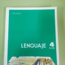 Libros de segunda mano: LENGUAJE 4° EGB. EDITORIAL MIÑÓN, ÁLVAREZ.. Lote 180194328