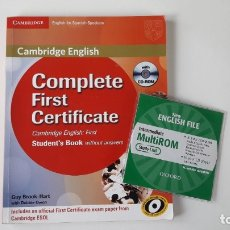 Libros de segunda mano: CAMBRIDGE ENGLISH. COMPLETE FIRST CERTIFICATE WITH CD-ROM (2 TOMOS). Lote 180287708
