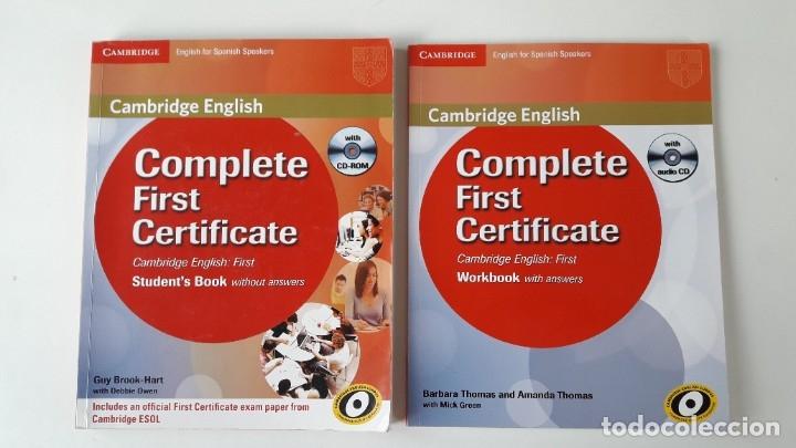 Libros de segunda mano: CAMBRIDGE ENGLISH. COMPLETE FIRST CERTIFICATE WITH CD-ROM (2 TOMOS) - Foto 2 - 180287708