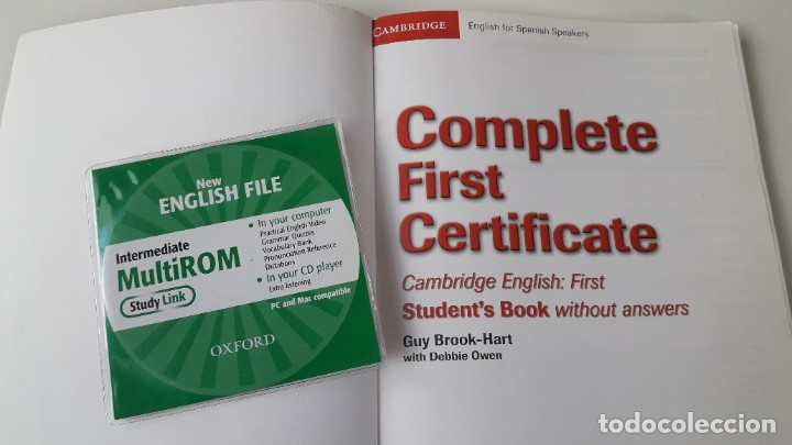 Libros de segunda mano: CAMBRIDGE ENGLISH. COMPLETE FIRST CERTIFICATE WITH CD-ROM (2 TOMOS) - Foto 4 - 180287708