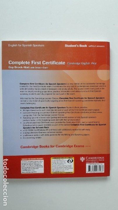 Libros de segunda mano: CAMBRIDGE ENGLISH. COMPLETE FIRST CERTIFICATE WITH CD-ROM (2 TOMOS) - Foto 9 - 180287708