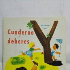 Libros de segunda mano: CUADERNO PARA DEBERES, EDITORIAL MIGUEL A. SALVATELLA, AÑO 1963. Lote 180339506