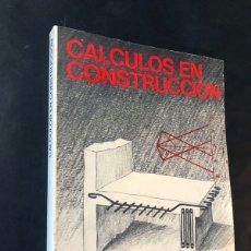 Libros de segunda mano: CALCULOS EN CONSTRUCCION / CEAC AÑO 1976 / ENCICLOPEDIA DELINEANTE / SIN USAR. Lote 180876176