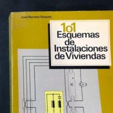 Libros de segunda mano: 101 ESQUEMAS DE INSTALACIONES ELECTRICAS EN VIVIENDAS / CEAC 1982. Lote 180877027