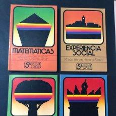 Libros de segunda mano: LIBROS TEXTO / MATEMATICAS - LENGUAJE - SOCIALES - NATURALES / 5º EGB / ED. ANAYA 1982 / SIN USAR. Lote 180887986