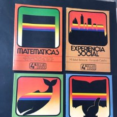 Libros de segunda mano: LIBROS TEXTO / MATEMATICAS - LENGUAJE - SOCIALES - NATURALES / 4º EGB / ED. ANAYA 1982 / SIN USAR. Lote 180888965