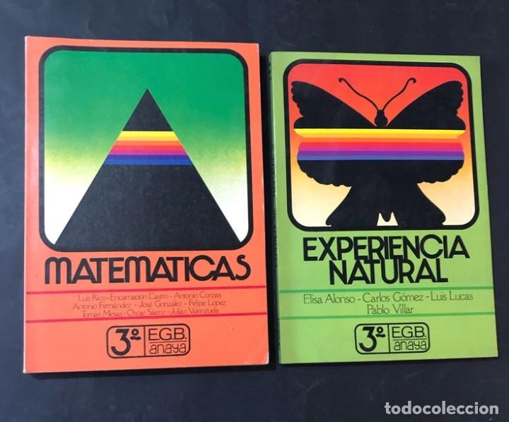 LIBROS TEXTO / MATEMATICAS - NATURALES / 3º EGB / ED. ANAYA 1982 / SIN USAR (Libros de Segunda Mano - Libros de Texto )