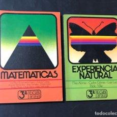 Libros de segunda mano: LIBROS TEXTO / MATEMATICAS - NATURALES / 3º EGB / ED. ANAYA 1982 / SIN USAR. Lote 180890970