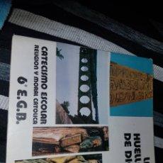 Libros de segunda mano: LAS HUELLAS DE DIOS CATECISMO ESCOLAR SEXTO DE EGB. Lote 180895731