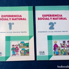 Libros de segunda mano: LIBROS TEXTO 1 - 2 EGB / EXPERIENCIA SOCILA Y NATURAL / ED. ANAYA 1982 / SIN USAR. Lote 180948185