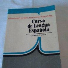 Libros de segunda mano: 136-CURSO DE LENGUA ESPAÑOLA, ORIENTACION UNIVERSITARIA, 1979 ANAYA. Lote 181566925