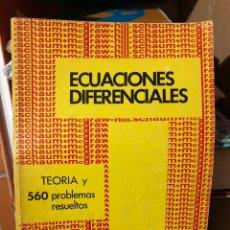 Libros de segunda mano: ECUACIONES DIFERENCIALES. 560 PROBLEMAS RESUELTOS. FRANK AYRES , JR. Lote 181745415