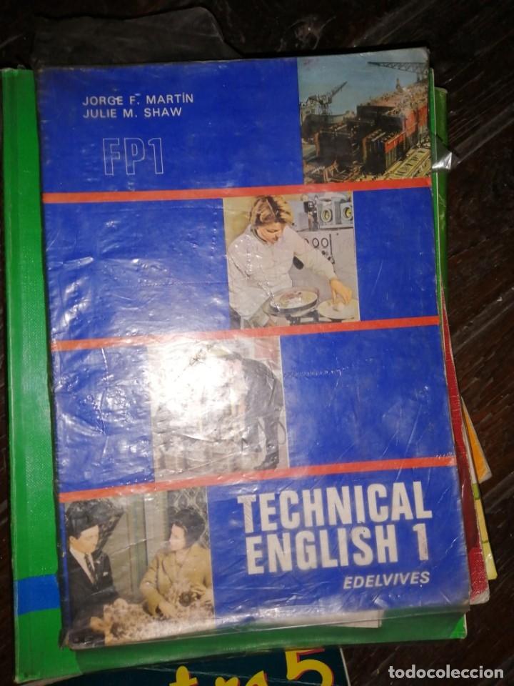 TECHNICAL ENGLISH 1 FP1,JORGE F.MARTIN,JULIE M.SHAW, EDITA EDELVIVES 1975 (Libros de Segunda Mano - Libros de Texto )