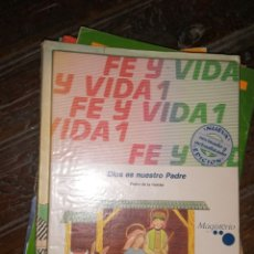 Libros de segunda mano: 1 LIBRO TEXTO AÑO 1988 - RELIGION - 1º E.G.B - 6EGB - FE Y VIDA - EDITA MAGISTERIO. Lote 181999208