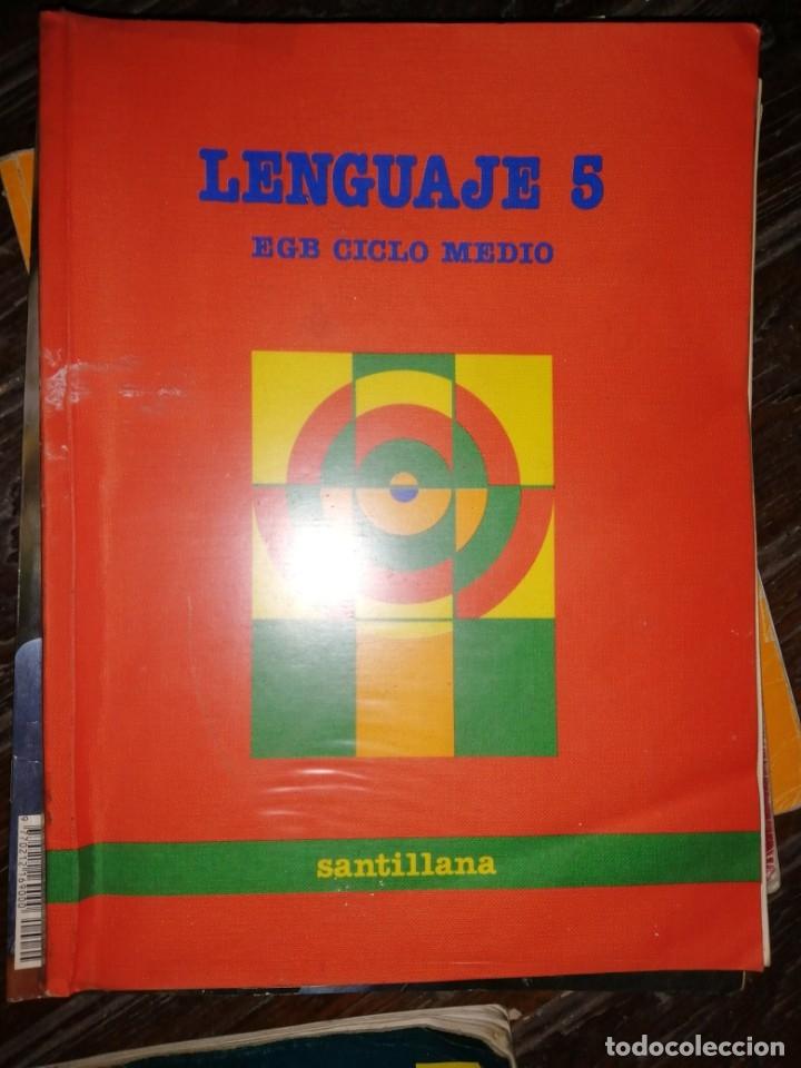 SANTILLANA - LENGUAJE 5 - EGB CICLO MEDIO - 1988 (Libros de Segunda Mano - Libros de Texto )