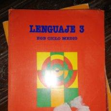 Libros de segunda mano: LENGUAJE 3 EGB CICLO MEDIO. SANTILLANA. 1988. PÁGINAS 159. PESO 440 GR.. Lote 181999851