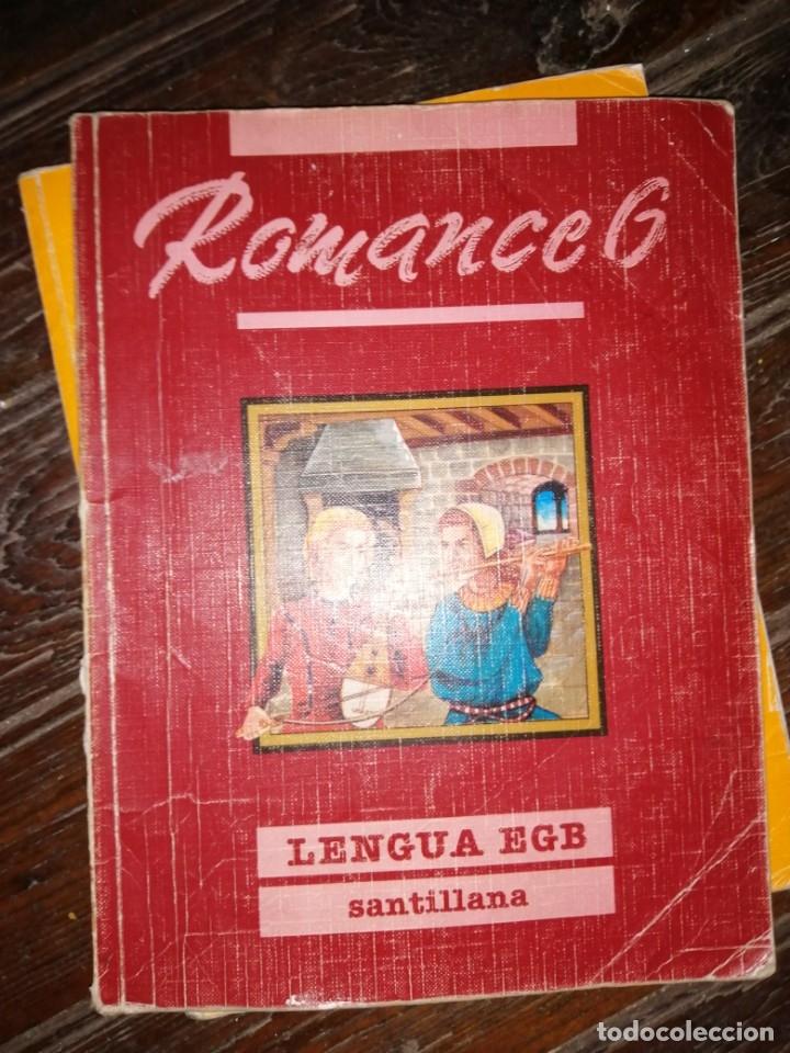 ROMANCE 6 - LENGUA EGB - EDT. SANTILLANA, 1990. (Libros de Segunda Mano - Libros de Texto )