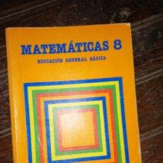 Libros de segunda mano: MATEMÁTICAS 8 EGB EDITORIAL SANTILLANA 1.988. Lote 182000012