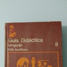 Libros de segunda mano: GUÍA DIDÁCTICA, LENGUAJE, EGB SANTILLANA 8.. Lote 182322316