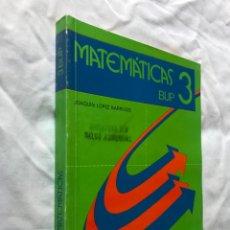 Libros de segunda mano: MATEMÁTICAS 3 BUP EDELVIVES 1988 MUESTRA SIN VALORCOMERCIAL. Lote 182875741