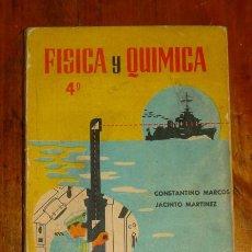 Libros de segunda mano: FISICA Y QUIMICA, CUARTO CURSO / CONSTANTINO MARCOS, S.M. JACINTO MARTINEZ, S.M.. Lote 183382697