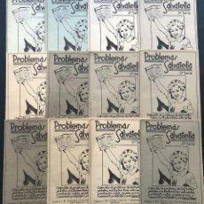 Libros de segunda mano: 12 PRECIOSOS CUADERNOS DIFERENTES / ILUSTRADOS / PROBLEMAS SALVATELLA AÑO 1959 / SIN USAR. Lote 183501491