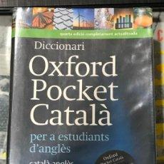 Libros de segunda mano: DICCIONARIO OXFORD POCKET CATALA SIN EL CD , 4ª EDICIÓN, BUEN ESTADO.. Lote 183553591