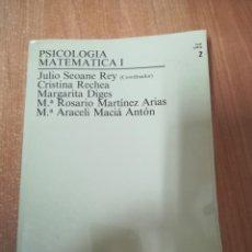 Livros em segunda mão: PSICOLOGÍA MATEMÁTICA I. UNED.. Lote 183679908
