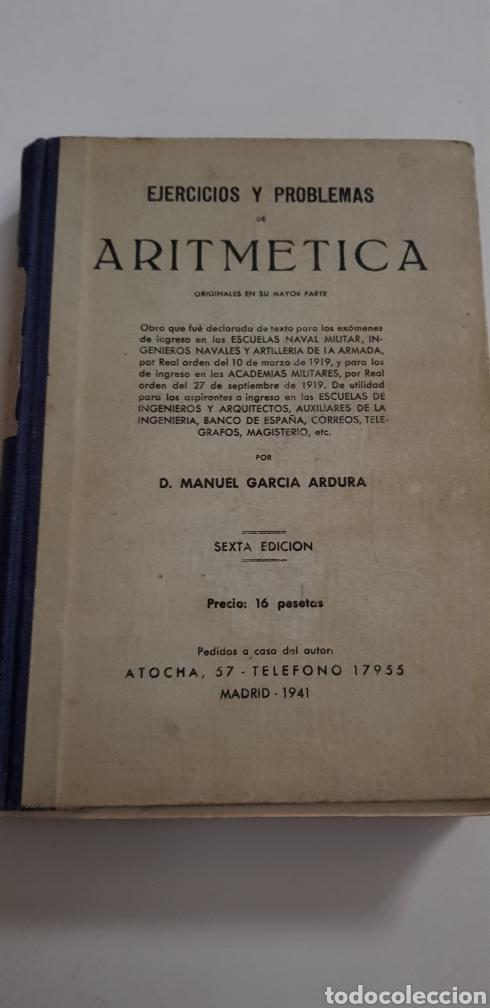 ARITMETICA - PROBLEMAS - GARCIA ARDURA - TDK108 (Libros de Segunda Mano - Libros de Texto )