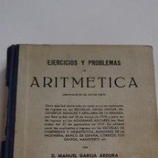 Libros de segunda mano: ARITMETICA - PROBLEMAS - GARCIA ARDURA - TDK108. Lote 183740332