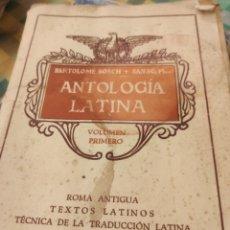 Libros de segunda mano: ANTOLOGÍA LATINA. Lote 184149793
