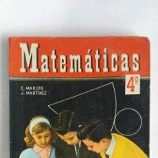 Libros de segunda mano: MATEMÁTICAS 4 CURSO SM. Lote 184231148