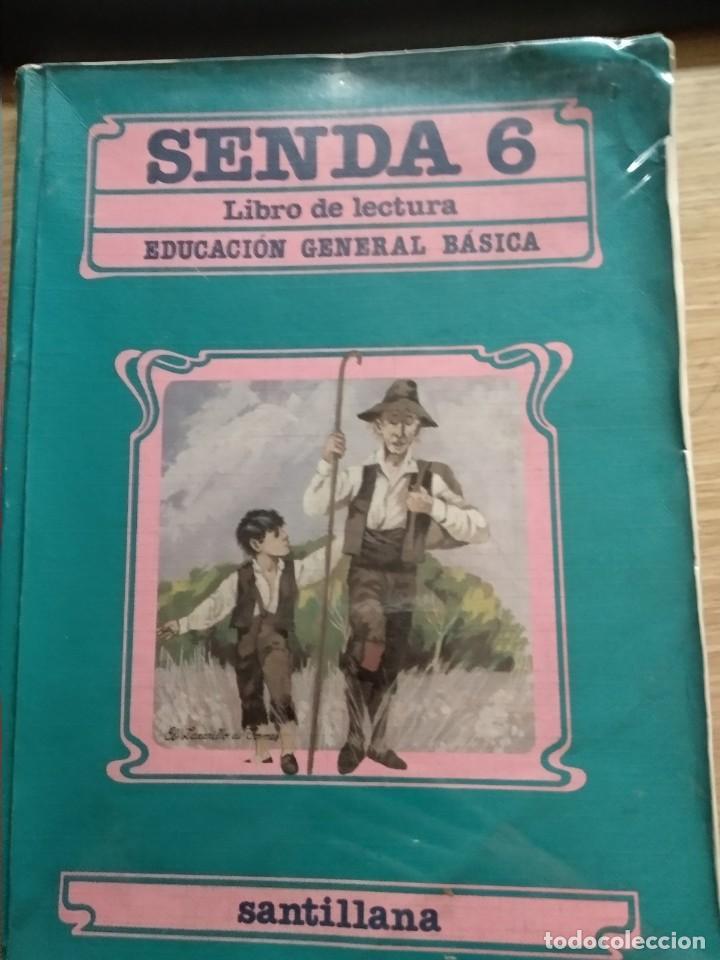 SENDA 6 EGB SANTILLANA 1988 (Libros de Segunda Mano - Libros de Texto )