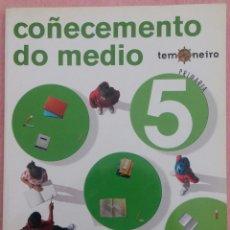Libros de segunda mano: 5º PRIMARIA, COÑECEMENTO DO MEDIO, TEMONEIRO, SM, 2010 // MATEMÁTICAS LINGUA GALEGA BIOLOXÍA MÚSICA. Lote 184361312