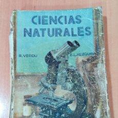 Libros de segunda mano: CIENCIAS NATURALES. SEXTO CURSO. ECIR VALENCIA. 1944. CONTIENE LAMINAS A COLOR. . Lote 184716437