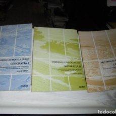 Libros de segunda mano: MATERIALES PARA LA CLASE GEOGRAFIA I-II Y III.ANTONIA FERRER-VICENTA MARTINEZ Y ROSARIO PEREZ.GRUP S. Lote 185361561