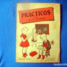 Libros de segunda mano: CUADERNO EJERCICIOS PRACTICOS RESTAR Nº 1 ESCARRA ED STUDIUM A ESTRENAR. Lote 186145813