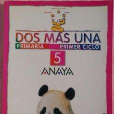 Libros de segunda mano: 5º PRIMARIA, DOS MÁS UNA, ANAYA, 2000 /// MATEMÁTICAS LINGUA BIOLOXÍA MÚSICA LECTURAS COÑECEMENTO. Lote 186320160