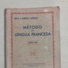 Libros de segunda mano: MÉTODO DE LENGUA FRANCESA. Lote 187185023