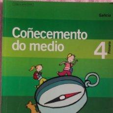Libros de segunda mano: 4º PRIMARIA, COÑECEMENTO DO MEDIO, UN PASO MÁIS, OBRADOIRO SANTILLANA, 2005 /// LINGUA MATEMÁTICAS. Lote 187221572