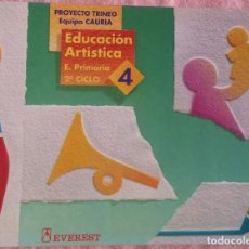 Libros de segunda mano: 4º PRIMARIA, EDUCACIÓN ARTÍSTICA, PROYECTO TRINEO, EVEREST, 1993 /// MATEMÁTICAS LENGUA LECTURAS. Lote 187222332