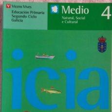 Libros de segunda mano: 4º PRIMARIA, MEDIO NATURAL, SOCIAL E CULTURAL, VICENS VIVES, 1993 /// LECTURAS MÚSICA LINGUA INGLÉS. Lote 187371920