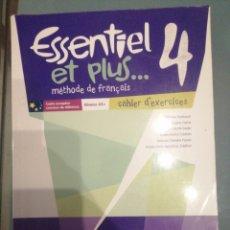 Libros de segunda mano: ESSENTIEL ET PLUS 4 CAHIER D, EXERCICES. Lote 187510777