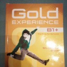 Libros de segunda mano: GOLD EXPERIENCE B1 + STUDENTS BOOK ( CON DVD). Lote 187512262